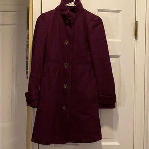 J. Crew wool coat size 2